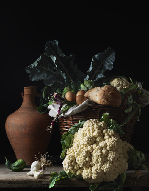 , 'Still Life with Cauliflower and Bread, after L.M.,' 2014, Robert Mann Gallery