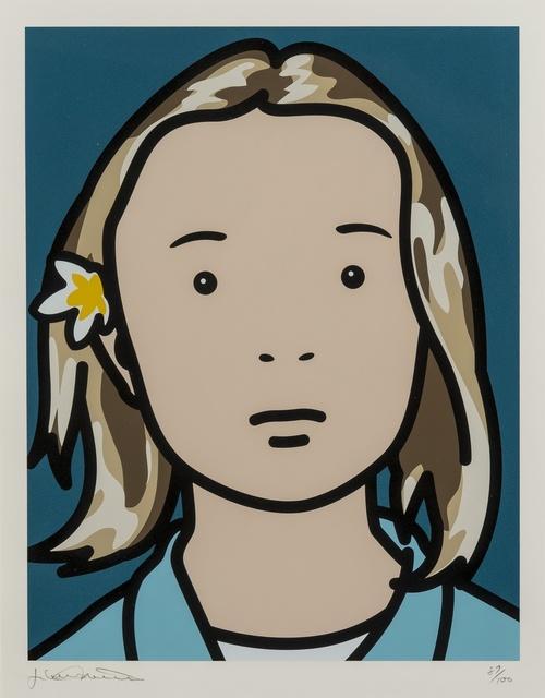 Julian Opie, 'Elena, schoolgirl (with lotus blossom) (Cristea 103)', 2006, Forum Auctions