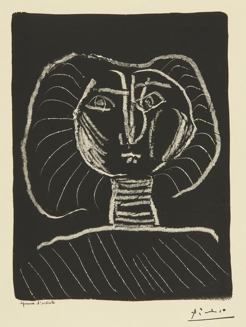 Pablo Picasso, 'Tête de femme fond noir (B. 376; Mourlot 2)', 1945, Print, Lithograph, Sotheby's