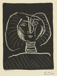 Tête de femme fond noir (B. 376; Mourlot 2)