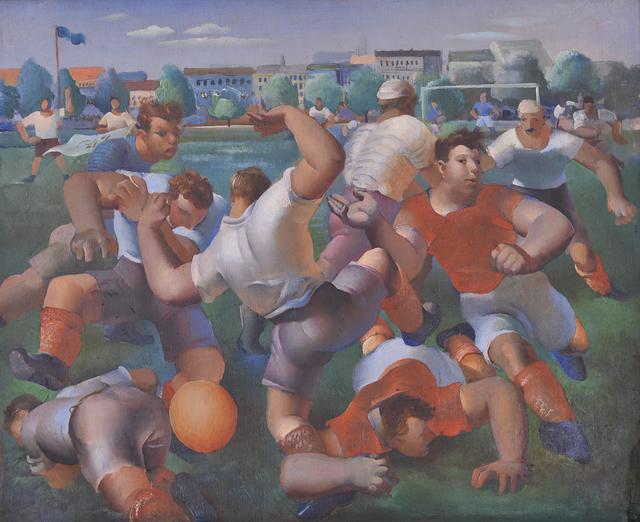 , 'Nogometa utakmica,' ca. 1929, Museum of Modern Art Dubrovnik