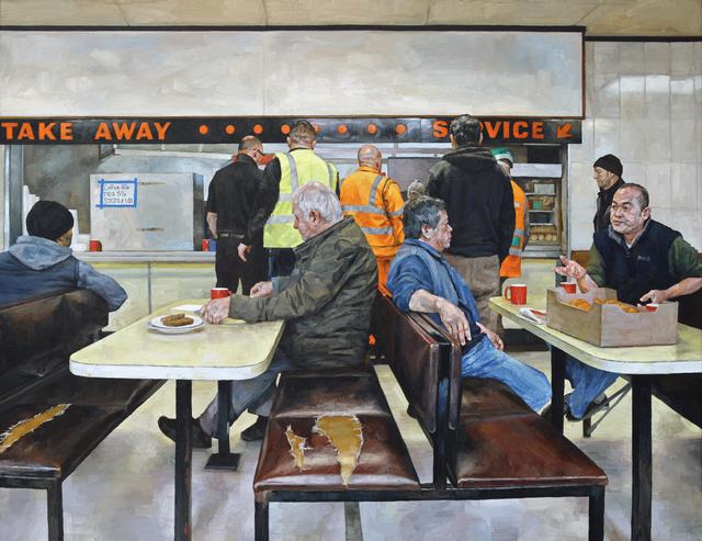 , 'Wholesale Market Cafe II,' 2017, Reuben Colley Fine Art