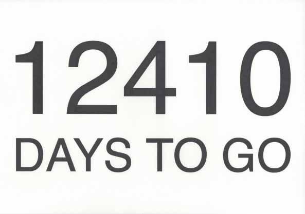 , '12410 Days to Go,' 2013, Vera Cortês