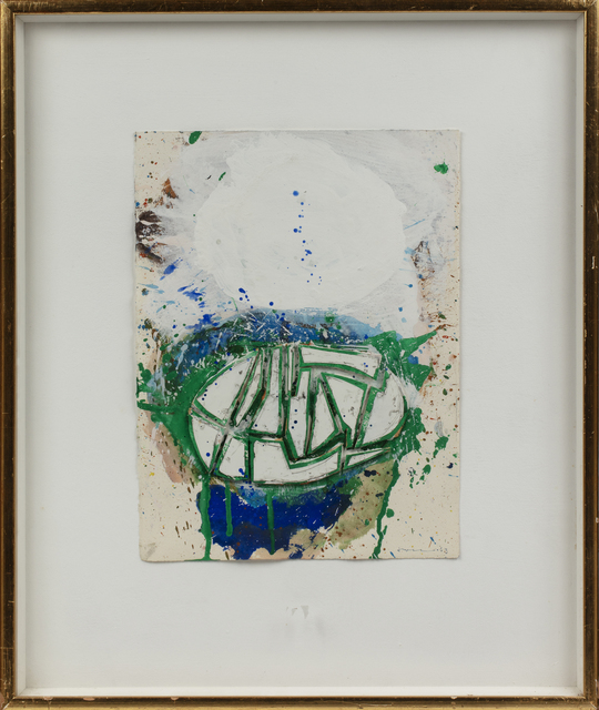 John Harrison Levee, 'Composition', 1963, Drawing, Collage or other Work on Paper, Acrylic and collage on paper, Millon