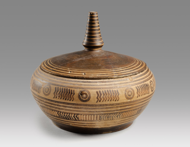 , 'ANCIENT GEOMETRIC GREEK PYXIS,' 8th century B.C., Phoenix Ancient Art