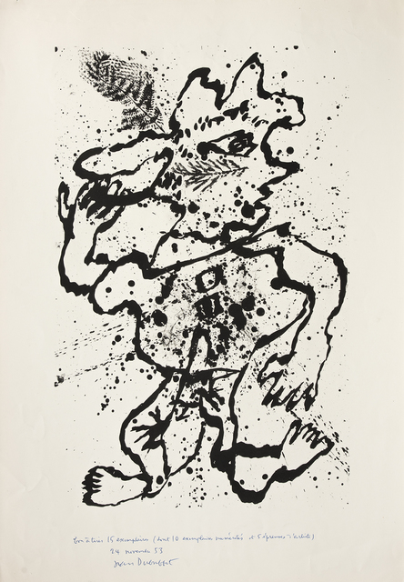 Jean Dubuffet, 'La plume au chapeau', 1953, Galerie Lelong & Co.