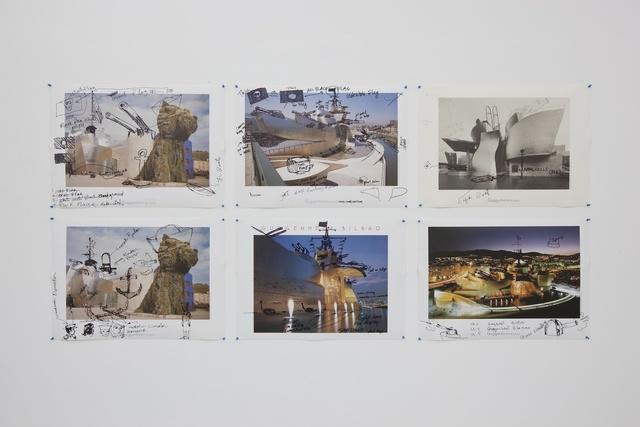 ", '""Guggenheim Bilboa Poster-Set"",' 2014, Galerie Parisa Kind"