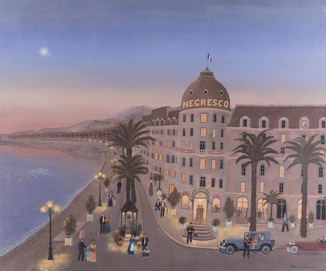 Fabienne Delacroix, 'La Promenade des Anglais à la Tombée de la Nuit', 1995, John Moran Auctioneers