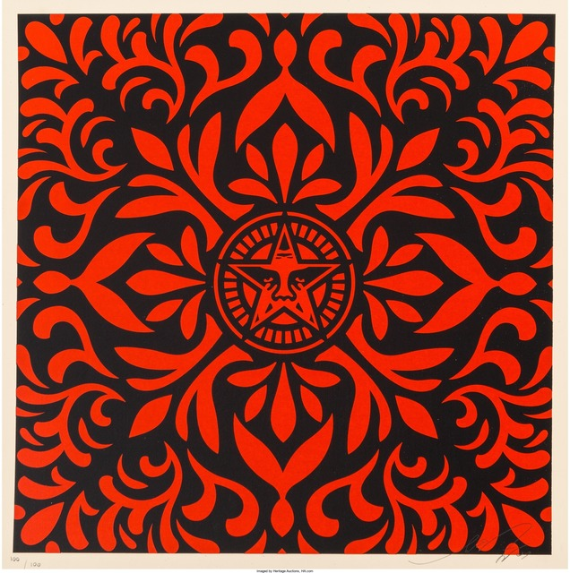 Shepard Fairey (OBEY), 'Pair of Japenese Fabric Patterns', 2009, Heritage Auctions
