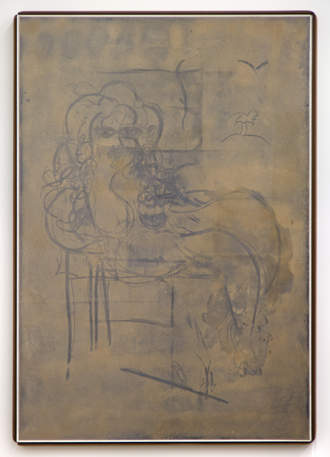 , 'Custom Dust Drawing (Reclining Nude),' 2015, David Petersen Gallery
