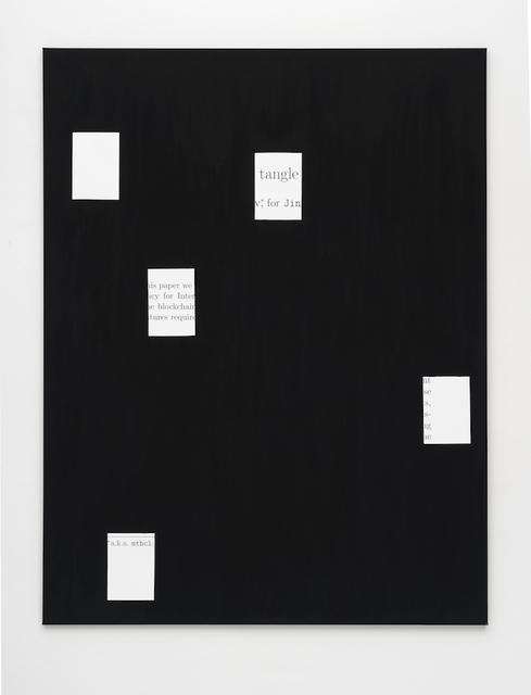 , 'white paper (IOTA) 1,' 2017, PPC Philipp Pflug Contemporary