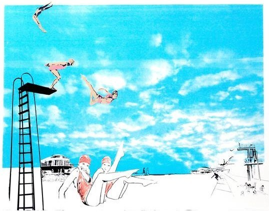 , 'Meanwhile at the Lido,' 2016, Wychwood Art