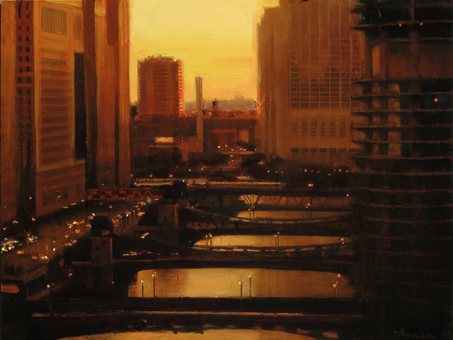 , 'Sunset, Chicago River,' 2014, Jenkins Johnson Gallery