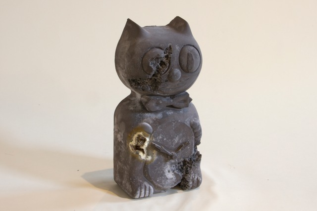 , 'Steel Eroded Cat Clock,' 2013, Galerie Ron Mandos