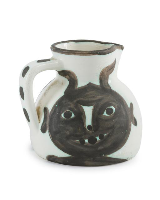 Pablo Picasso, 'Têtes', 1956, Design/Decorative Art, White earthenware ceramic pitcher with glaze, John Moran Auctioneers