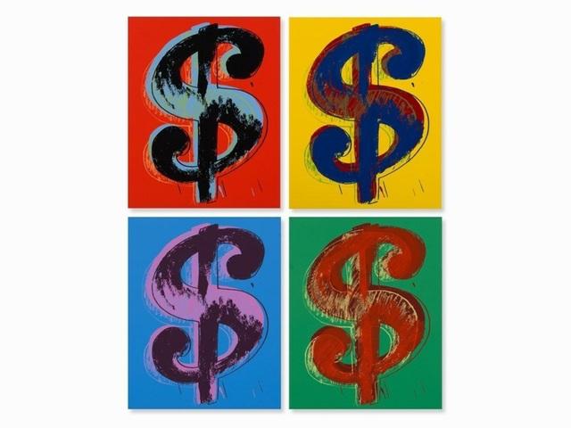 Sunday B. Morning, 'Dollar Sign Suite (Sunday B. Morning), 4 Limited Edition Silkscreen Artworks', 2013, Reproduction, Silkscreen on Museum Board, Art Commerce
