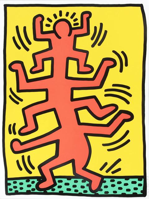 Keith Haring, 'Growing', 1988, Print, Screenprint, Hamilton-Selway Fine Art Gallery Auction