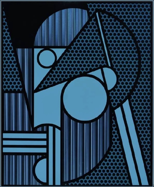 Roy Lichtenstein, 'Modern Head #4, from: Modern Head Series', 1970, Print, Lithograph in colours on engraved aluminium, Shapero Modern