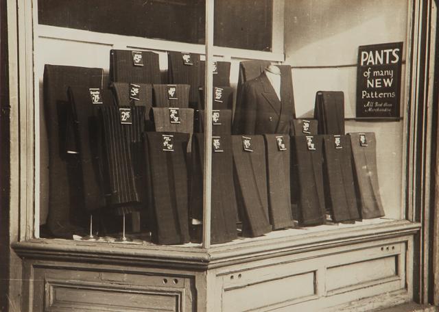 , 'Untitled (pants on display),' 1930-1943, L. Parker Stephenson Photographs