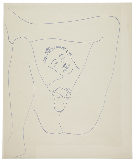 Andy Warhol, ' MALE PARTIAL FIGURE', ca. 1956, Galerie des Modernes