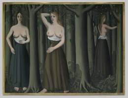 Paul Delvaux, 'The Forest', 1935, Painting, Oil on canvas, Yale University Art Gallery