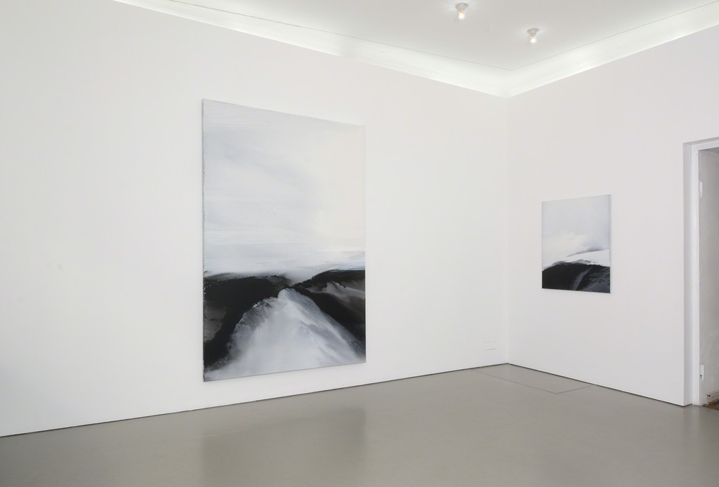 Exhibition view with 'Untitled (2/01/2018)' and 'Untitled (4/01/2018)'; photo: Jürgen Baumann