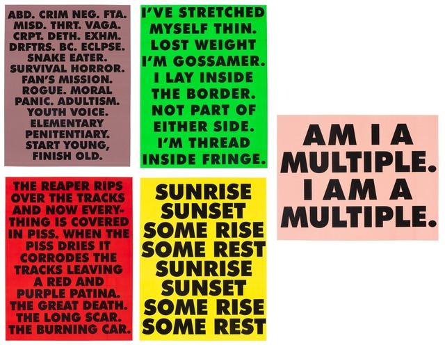 Sterling Ruby, 'ABDUCTION/ GOSSAMER/ MULTIPLE/ THE REAPER/ SUNRISE  SUNSET SOME RISE SOME REST', 2015, Gagosian