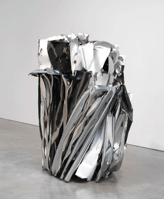 John Chamberlain, 'TASTEYLINGUS', 2010, Sculpture, Painted and chrome-plated steel, Gagosian