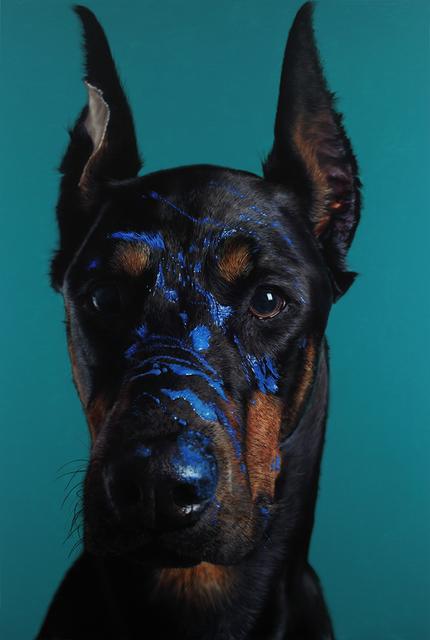 , 'Doberman Pinscher and Cobalt blue,' 2016, Johyun Gallery