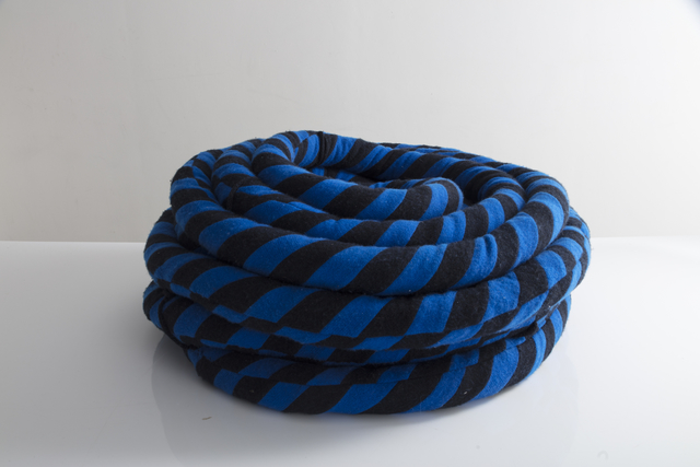 , 'Unique coil sculpture in blue and black cashmere, kapok fiber filling,' 2016, R & Company