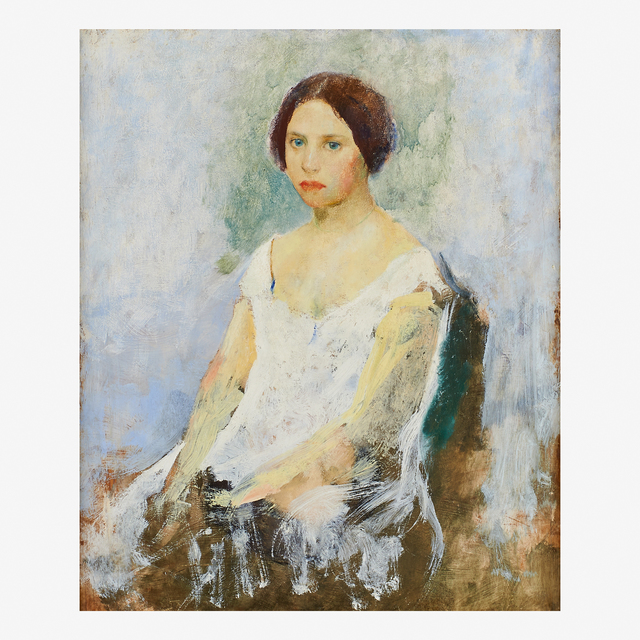 Charles Webster Hawthorne, 'Portrait of a Girl', Rago