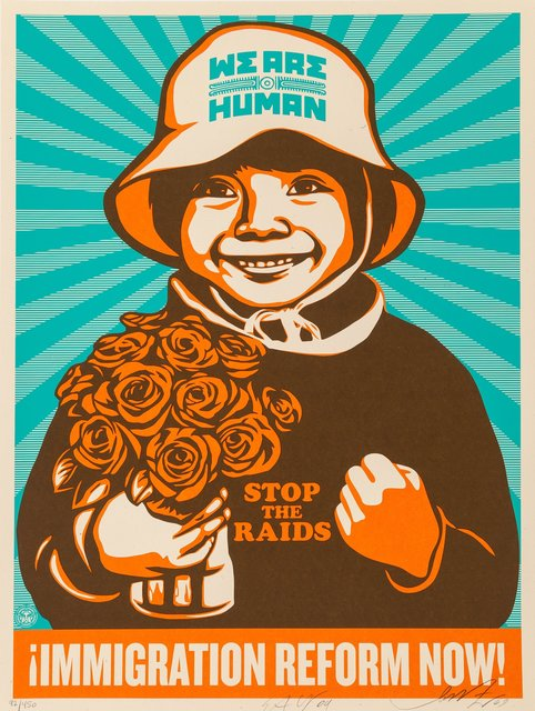 Shepard Fairey, 'Immigration Refrom Now! (English Version)', 2010, Heritage Auctions