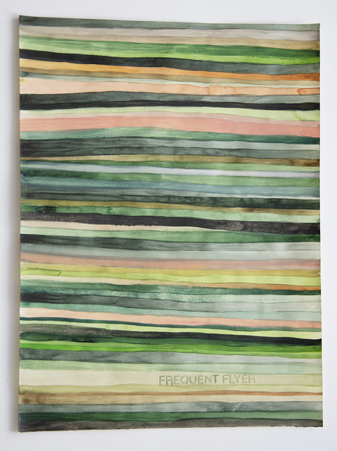, 'Domestic Textiles Series, Frequent Flyer,' 2018, frosch&portmann