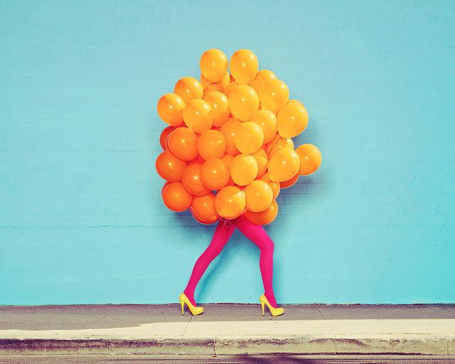 , 'Je Ne Suis Pas Seul Sans Toi (Orange Balloons),' 2013, De Soto Gallery