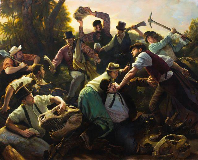 Adam Miller, 'Bone Wars', 2015, Painting, Oil on Canvas, Aux Gallery