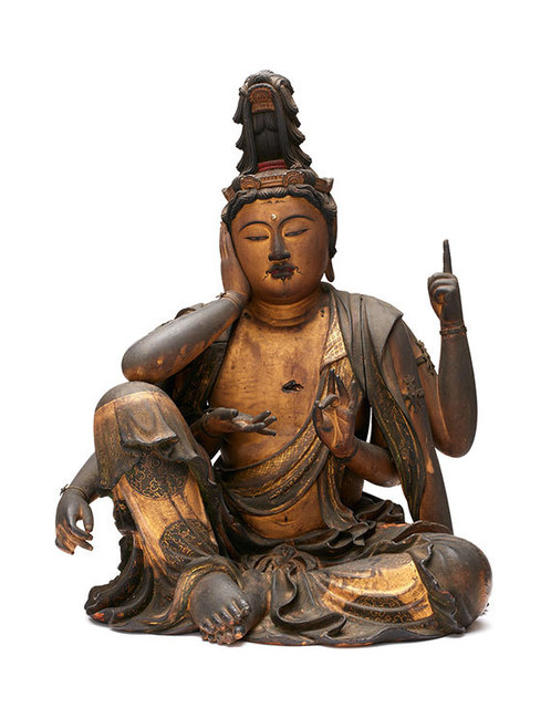 , 'Nyoirin Kannon,' Early 14th century, Asia Society