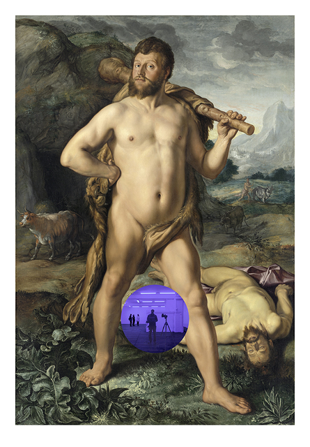 , 'Gazing Ball (Goltzius Hercules and Cacus),' 2017, David Zwirner