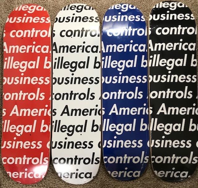 "Supreme, '""Illegal Business Controls America Volume 1""', 2018, New Union Gallery"
