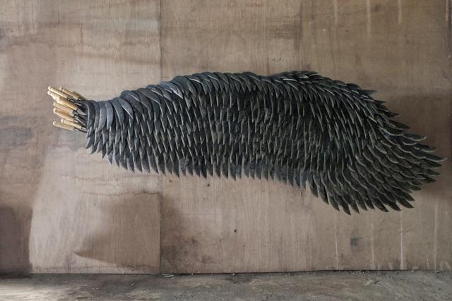 Alfredo and Isabel Aquilizan, 'Left Wing Project (Belok Kiri Jalan Terus) Wing I', 2017-2018, Sculpture, Hand-forged sickles, Yavuz Gallery