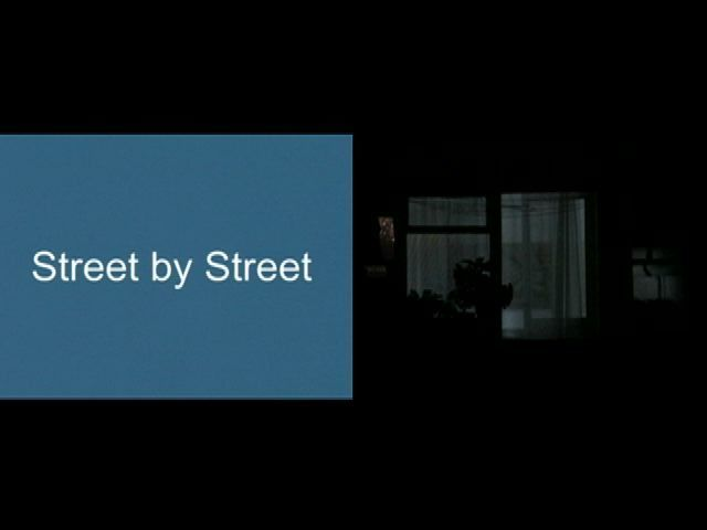 Fani Zguro, Street by Street, two channel, color, sound, 8 min, 2007, courtesy of the artist
