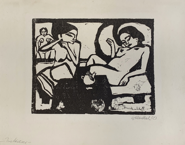 , 'Two Girls in the Studio,' 1910, Galerie St. Etienne
