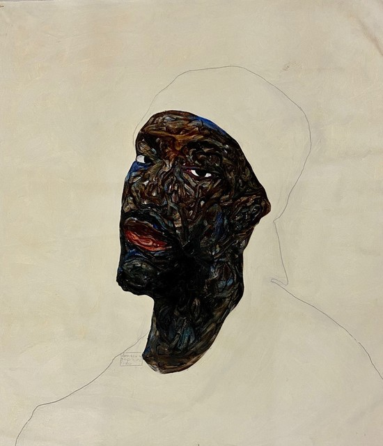 Amoako Boafo, 'White Cap', 2020, Painting, Oil on canvas, CFHILL
