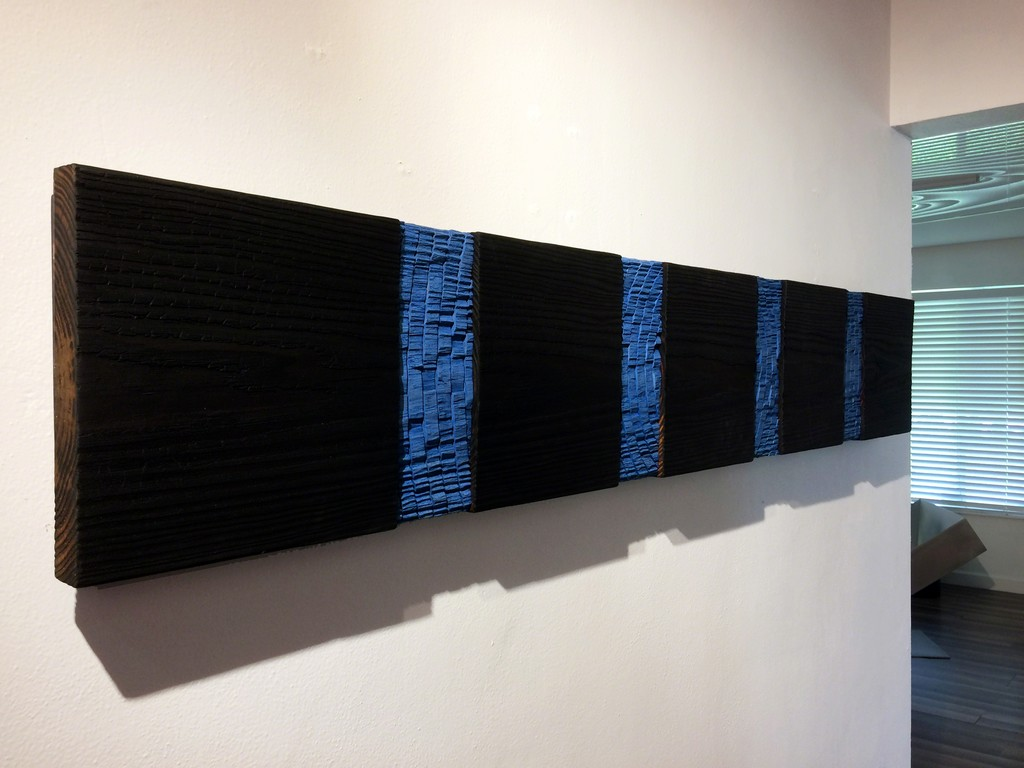 Joe SEGAL - Tide III, mixed media on wood | installation view at Waltman Ortega Fine Art