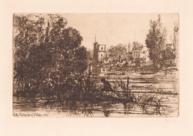 , 'Twickenham Church,' 1862, Hans den Hollander Prints