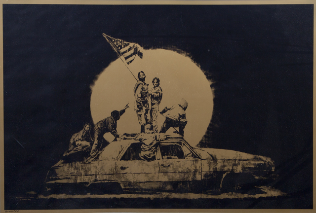 Banksy, 'Gold Flag', Julien's Auctions