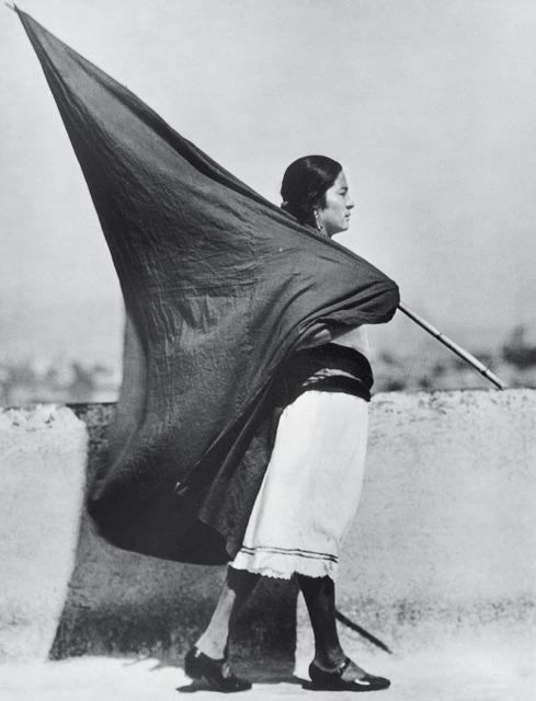 , 'Mujer con bandera, México,' 1928, Galeria Enrique Guerrero