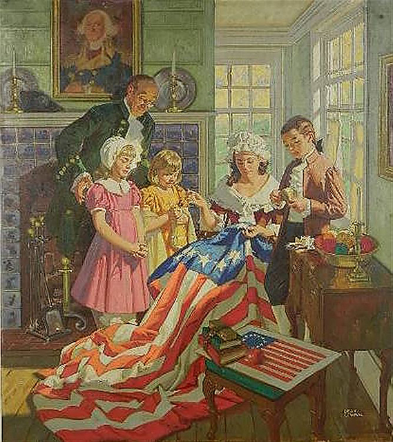 Dean Cornwell, 'Betsy Ross', The Illustrated Gallery
