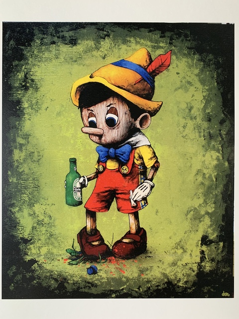 "dran, 'DRAN ""PINOCCHIO WITH BEER"" PARIS EXCLUSIVE HYPER RARE', 2016, Arts Limited"