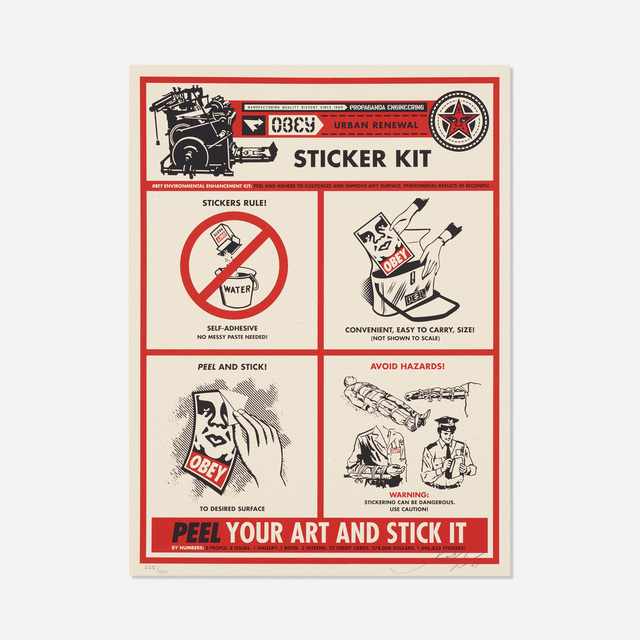 Shepard Fairey, 'Sticker Kit', 2009, Rago/Wright