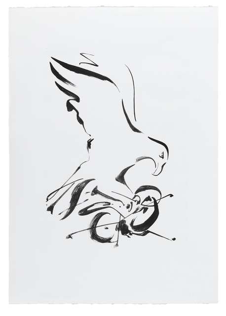 Mircea Cantor, 'Aquila Non Capit Muscas', 2020, Drawing, Collage or other Work on Paper, Lithography, Jecza Gallery